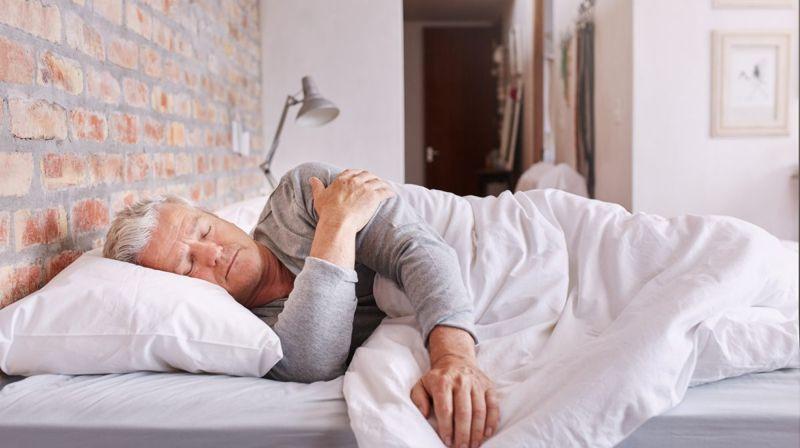older person side sleeping