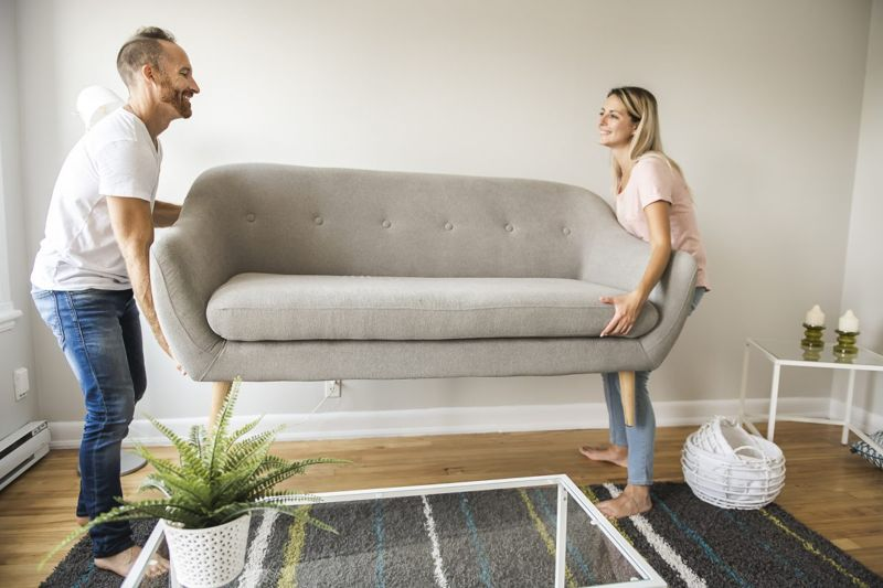 Moving furniture around freshens up a space