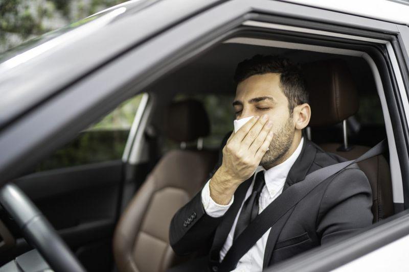 sneeze man suit belief