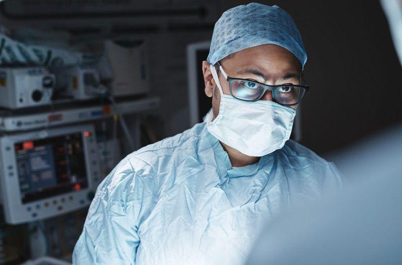 serious surgeon mask