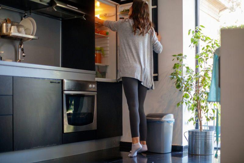 Remote worker Refridgerator snacking
