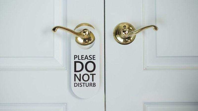 Do not disturb home office