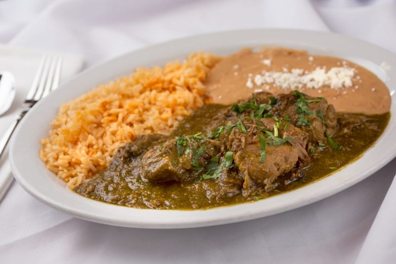 Chile verde with pork is easily prepared in a slow cooker
