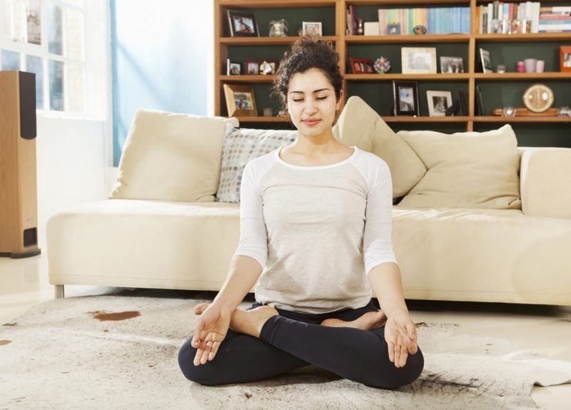 Short breaks for meditation and other mind-body practices are a great way to recharge during the work at home day.