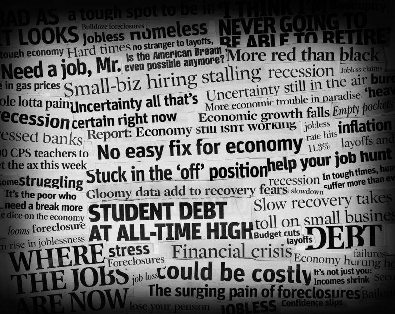 bad economic headlines