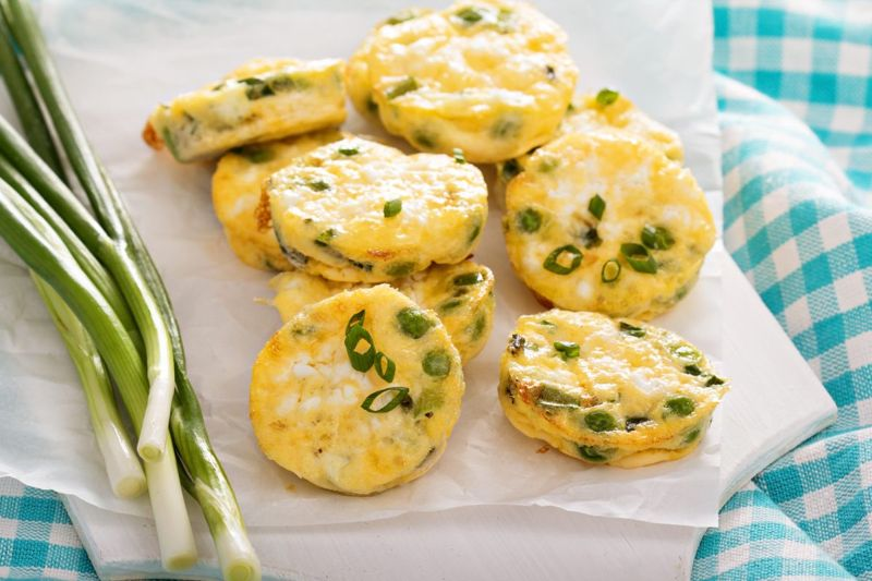 Mini frittatas can be made ahead of time and refrigerated
