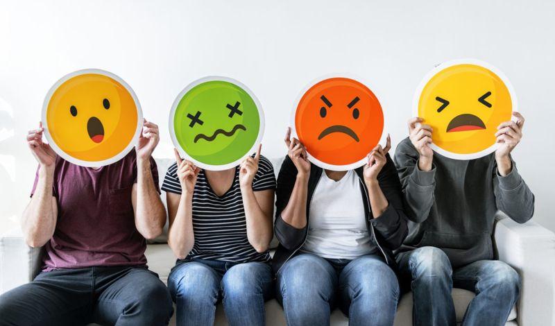 Negative emotions masks