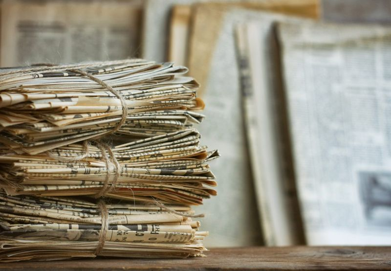 Search old newspapers