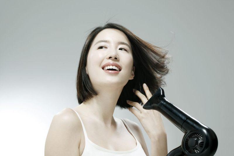 hairdryer, woman, hair