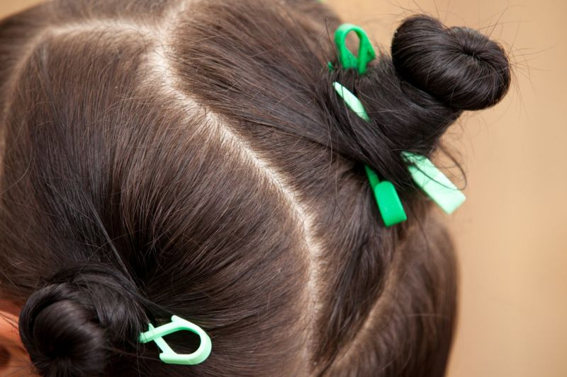 hair, sections, clips