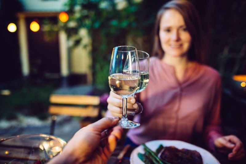 Wine outdoor meal home vacation