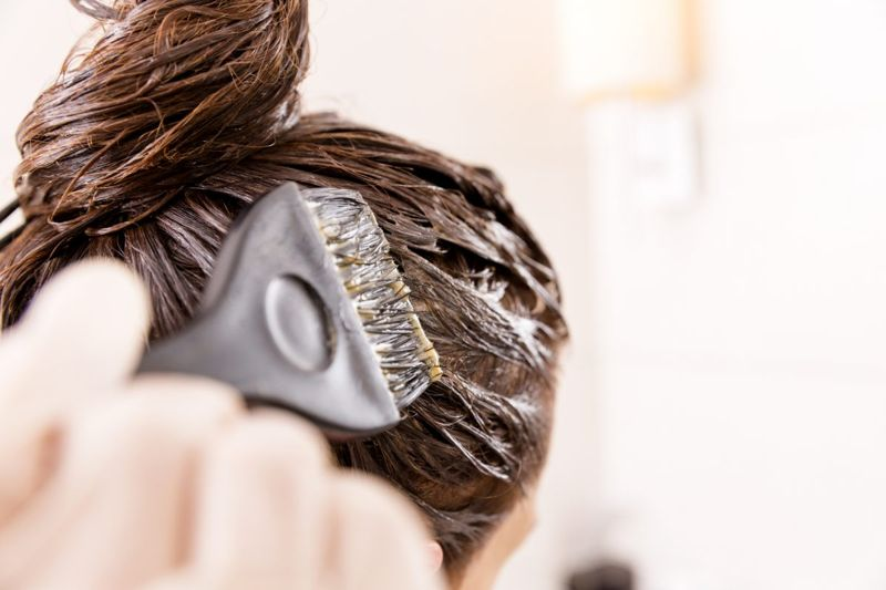 Hair dye brush home