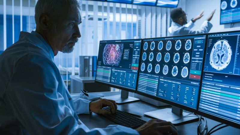 doctor brain scan cerebellum