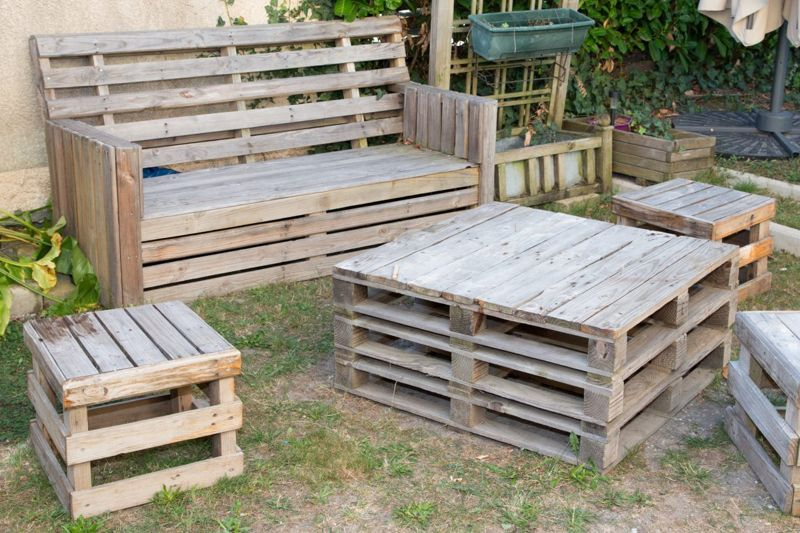 recycled make sit on bench