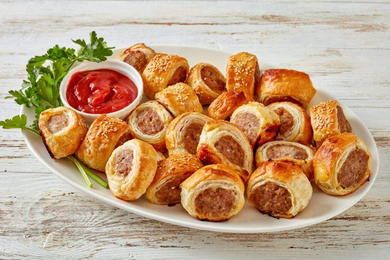 sausage rolls picnic finger food