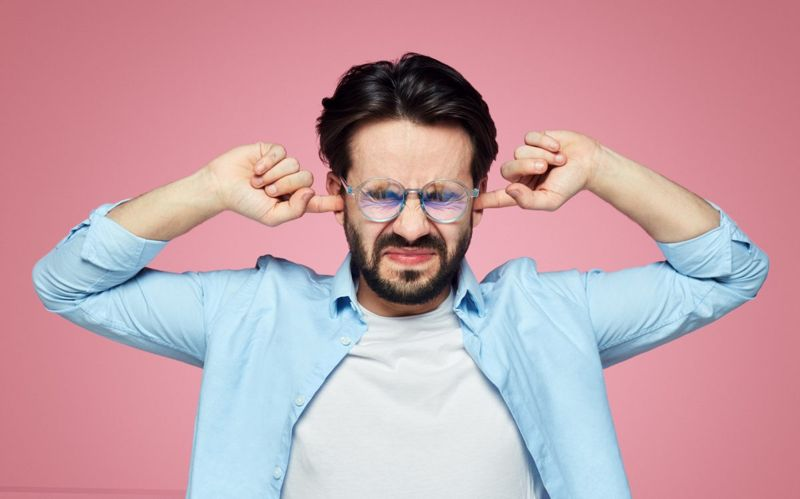 man with ear pain