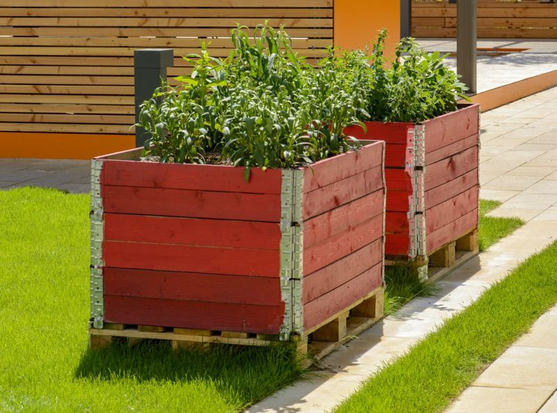 Wooden Milk Crated Flower Bed