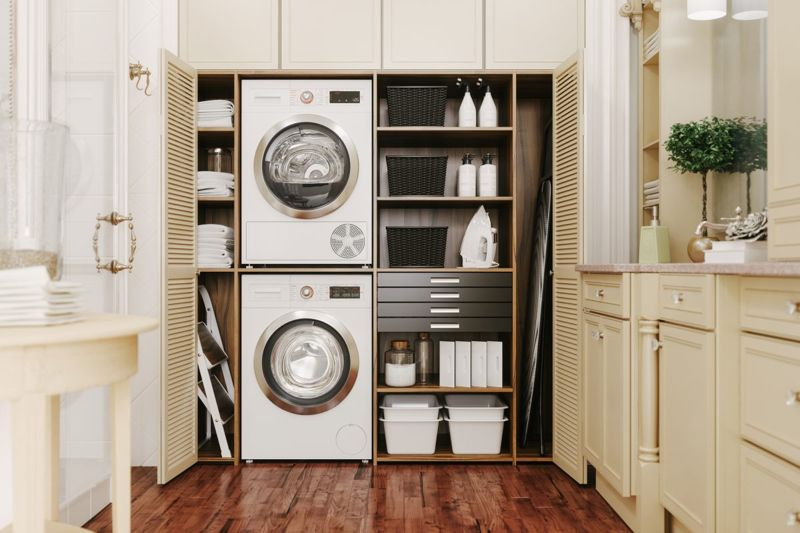 small and luxurious laundry rooms