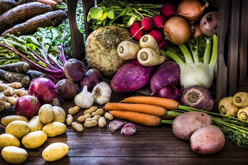 carrots potatoes