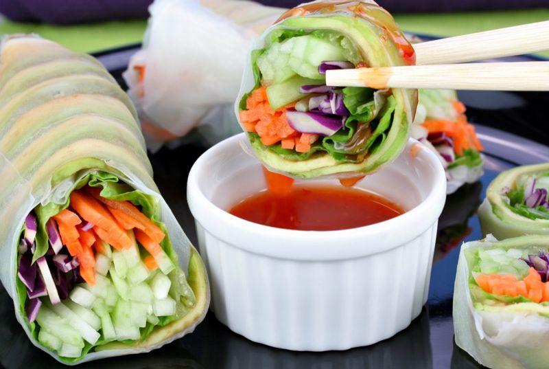 rice paper wrap sushi picnic