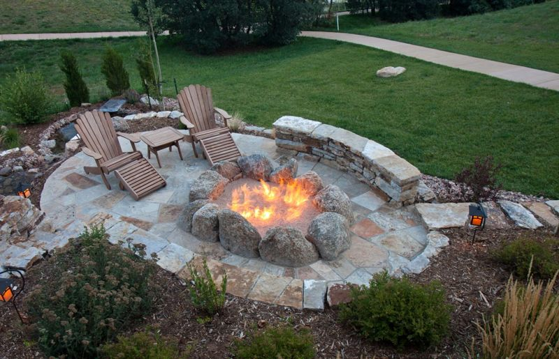 small fire pit flames