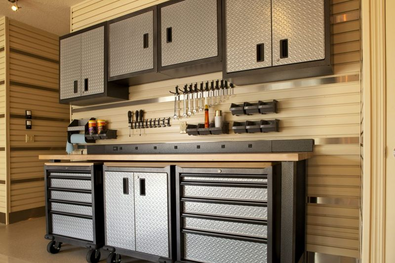 Metal shelving is durable and has the added bonus of being magnetic for magnets.