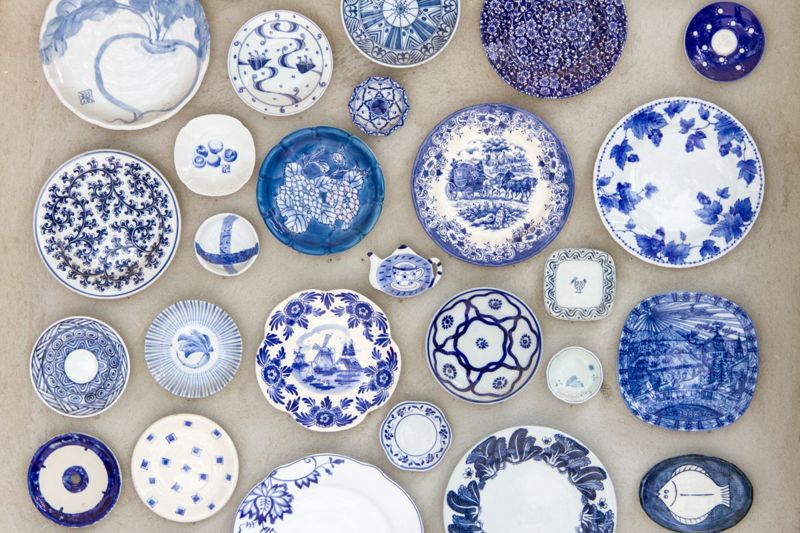 Fine china blue and white