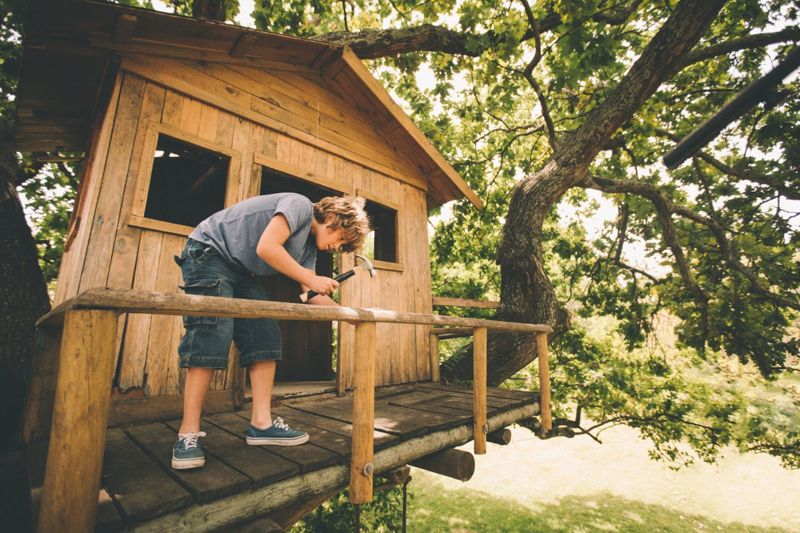 Keep your tree house in good repair for the span of its possibly short life.