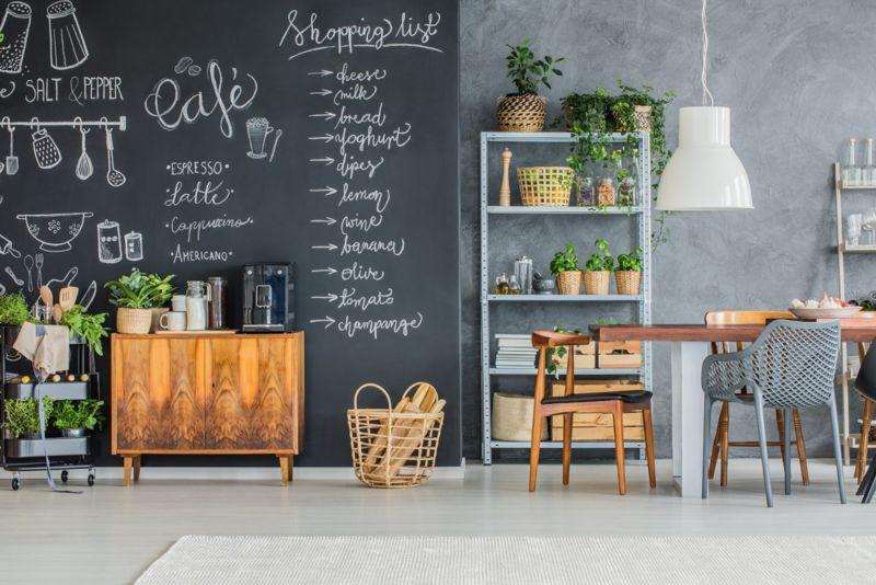 chalk wall display