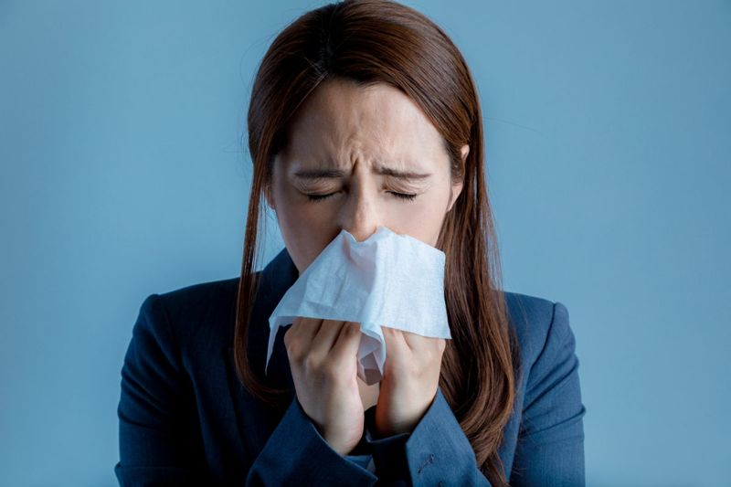 woman with sinus inflammation