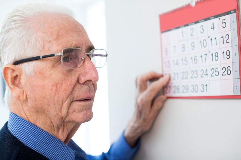 senior calendar appointment forgetful