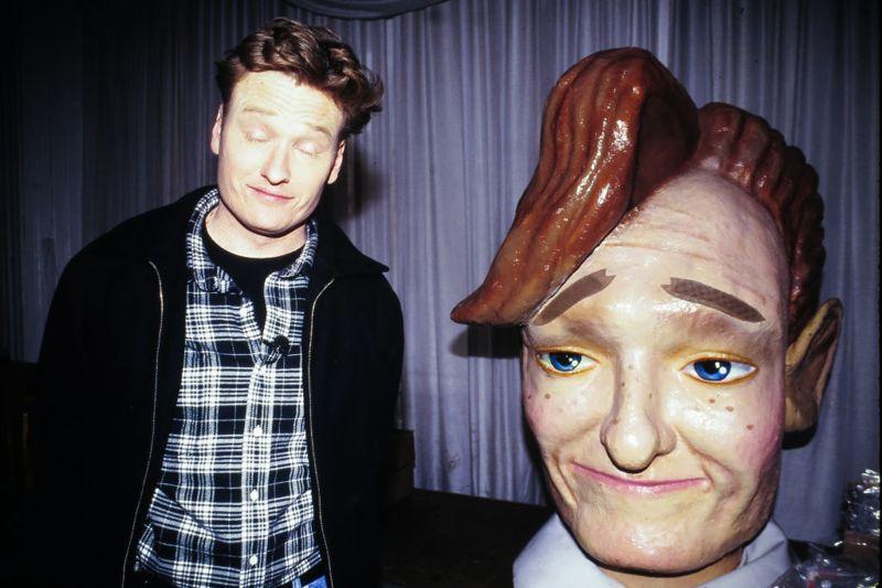 Conan O'Brien at Music Memorabilia Auction, New York, New York, January 21, 1995. (