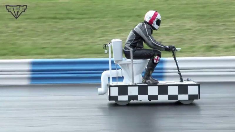 Fastest motorized toilet