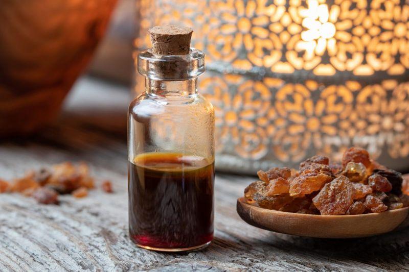 bottle essential oil resin