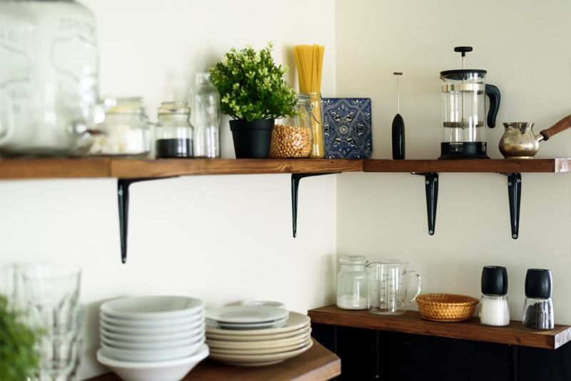 practical install open shelving