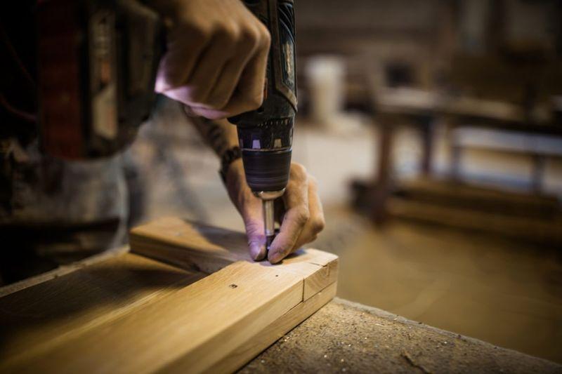 shelving cut notches drill
