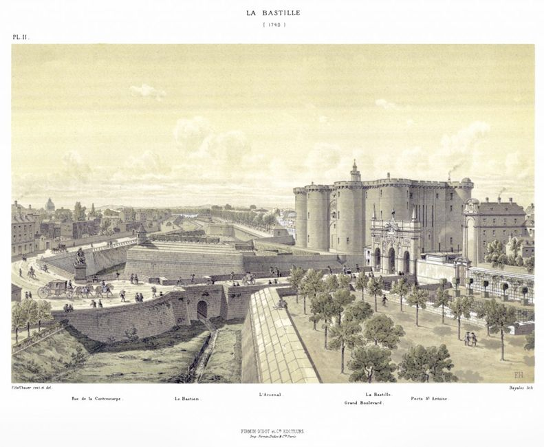 bastion walls enclosure mercenaries Bastille