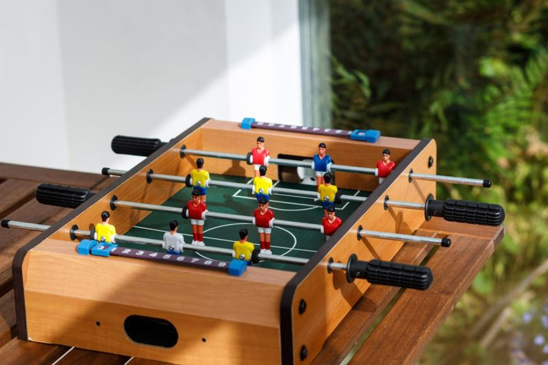 Small table football game.