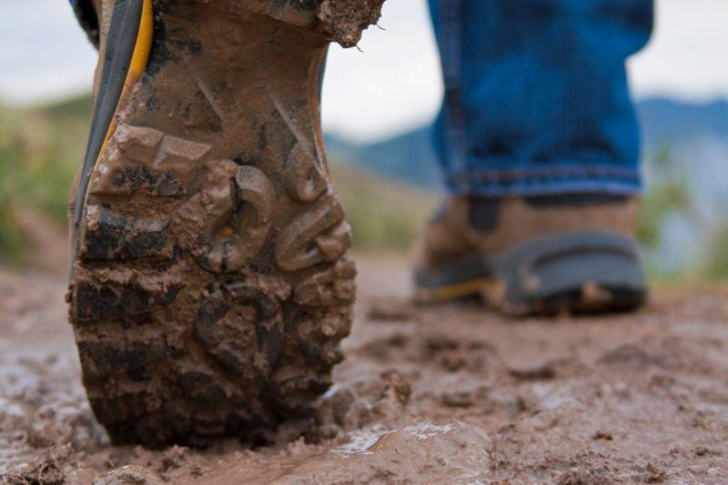 muddy shoes soil