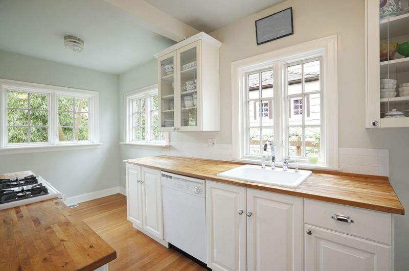 lighter paint small space kitchen