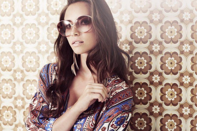 woman oversized sunglasses shades