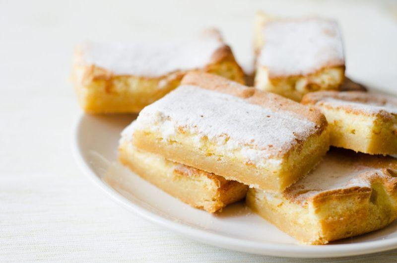zesty buttery lemon bars