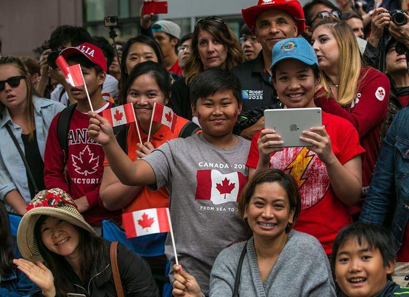 People celebrating Canada Day