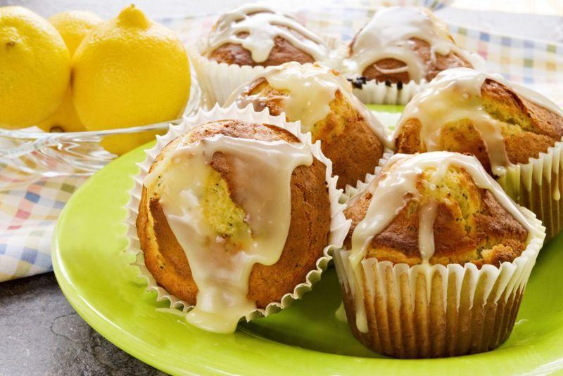 lemon morning dessert muffins