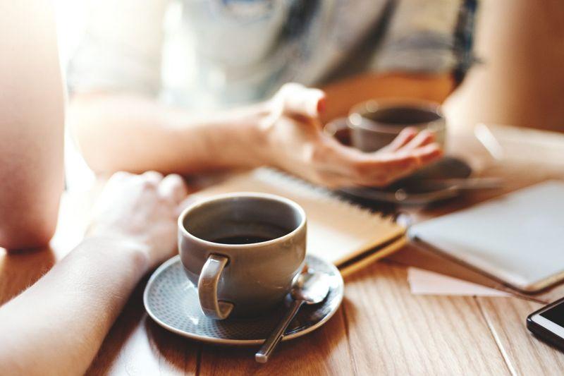 hand caffeine coffee