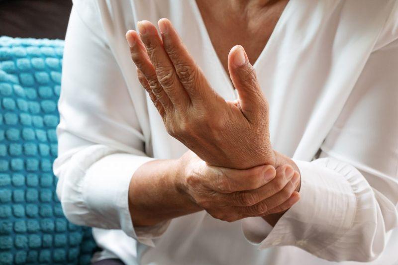 extended fingers wrist