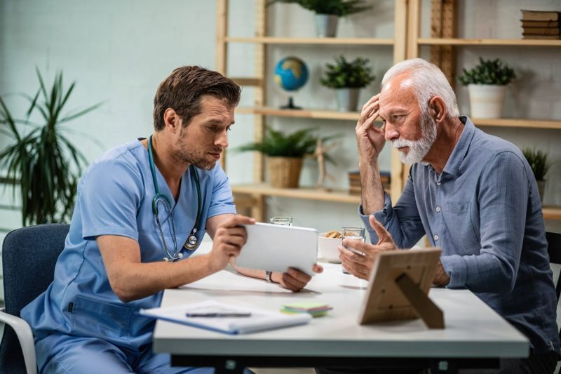 male patient doctor conversation