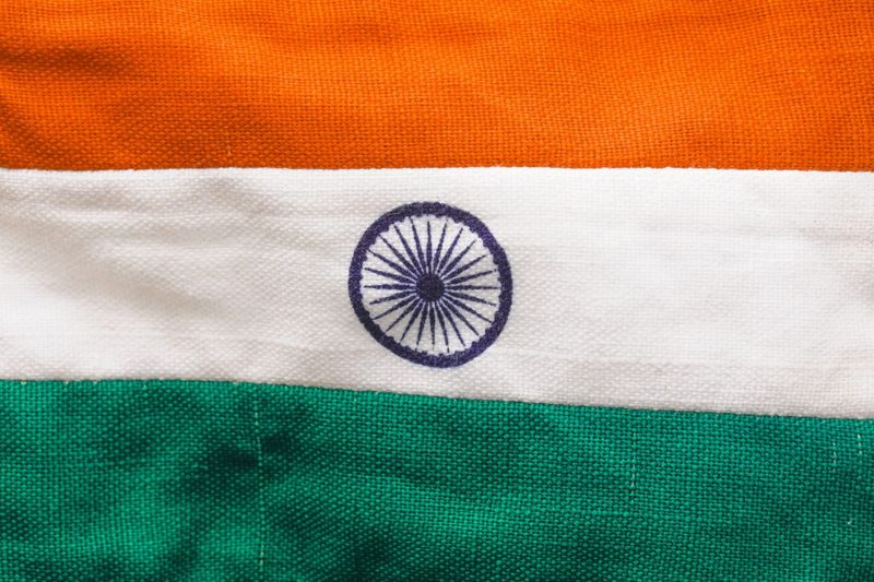 The Indian flag's charkha