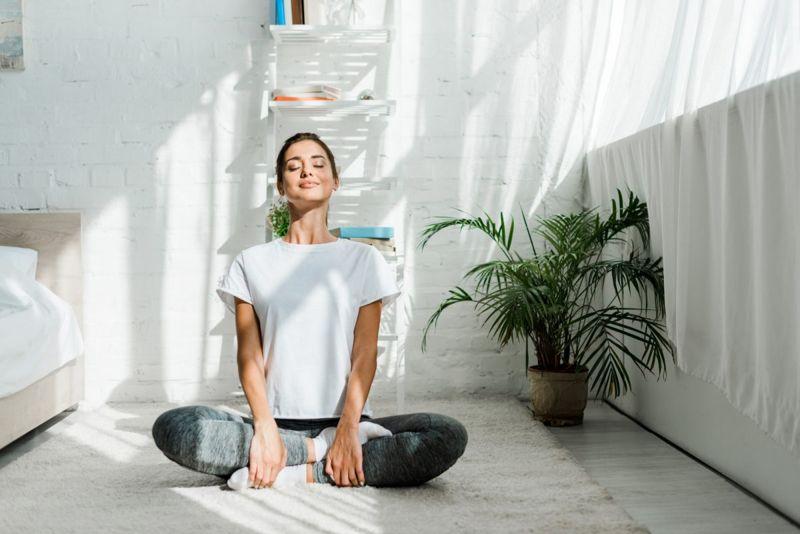 healthy woman yoga
