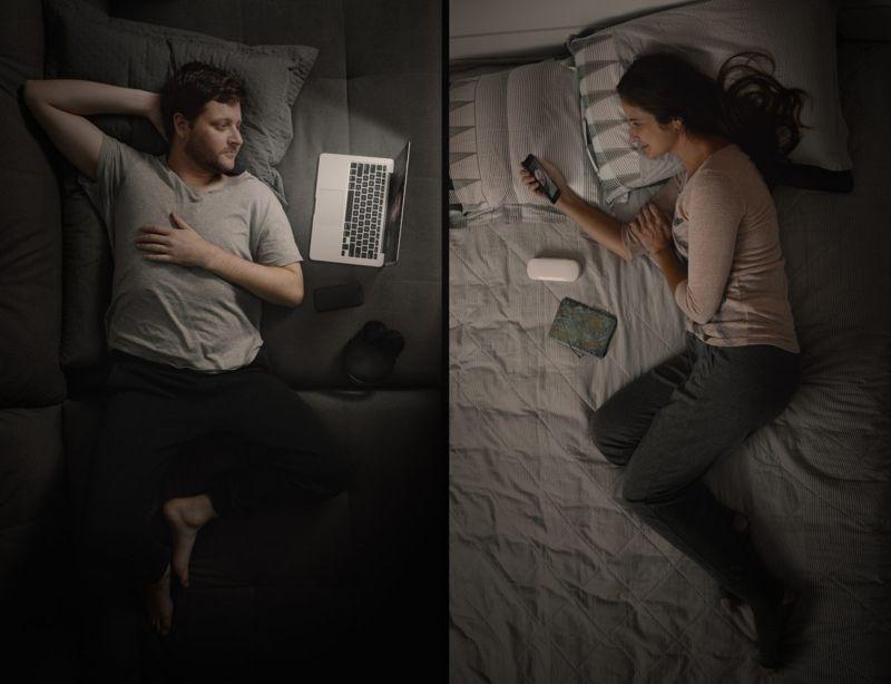 Long-distance couple
